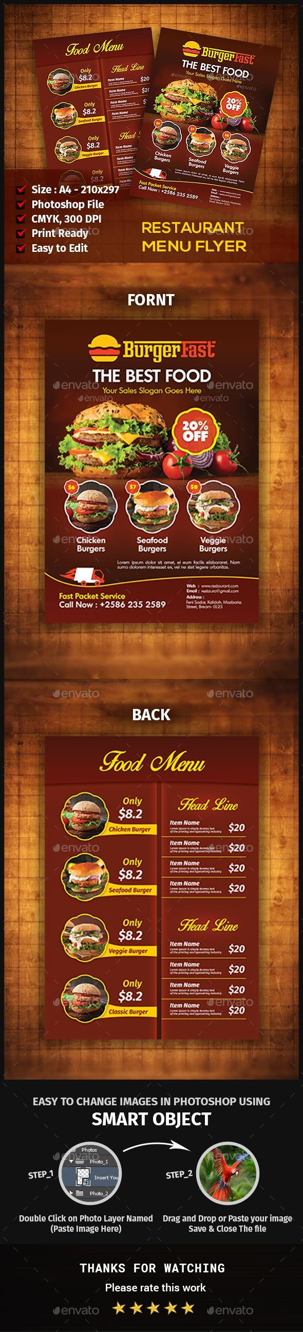 Restaurant Menu Flyer  Menu Restaurants And Menu Printing