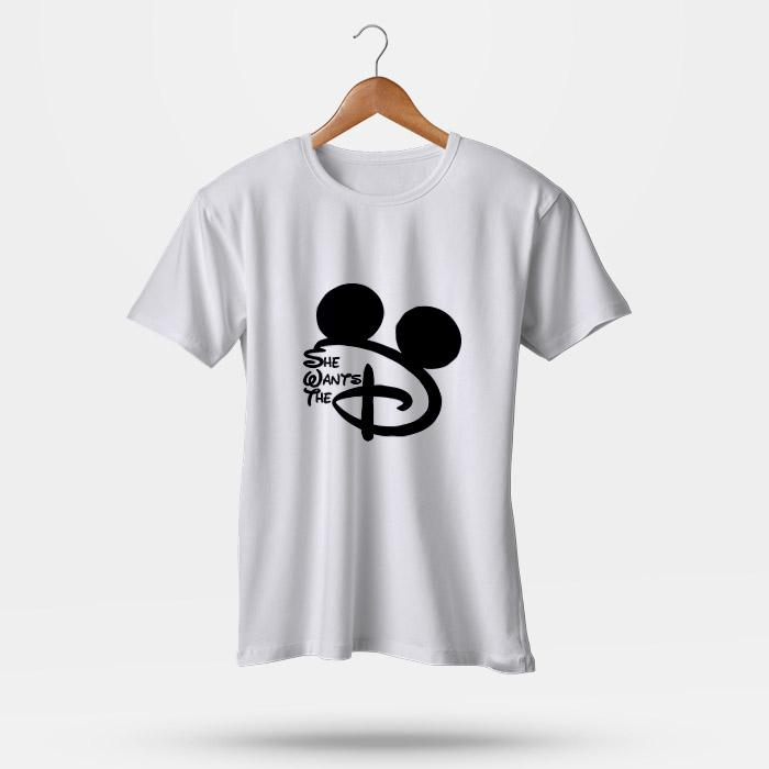 20725aa5 She Wants The D Disney Men's T-Shirt | Leaftunes | Products | Disney ...