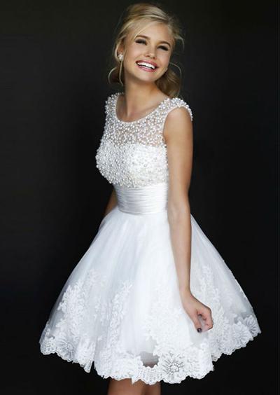 vestido de novia corto de perlas nuevo | chicas | pinterest