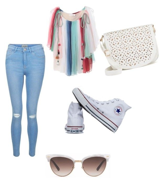 """""""City Girl"""" by annabeth-swan-potter on Polyvore featuring New Look, Chloé, Converse, Under One Sky and Gucci"""
