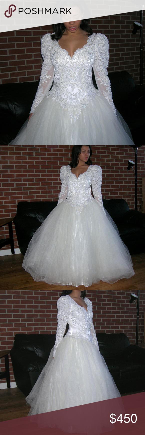 Cinderella inspired wedding dress  GINZA Beaded Sequin Satin Lace Wedding Dress Gown  My Posh Closet