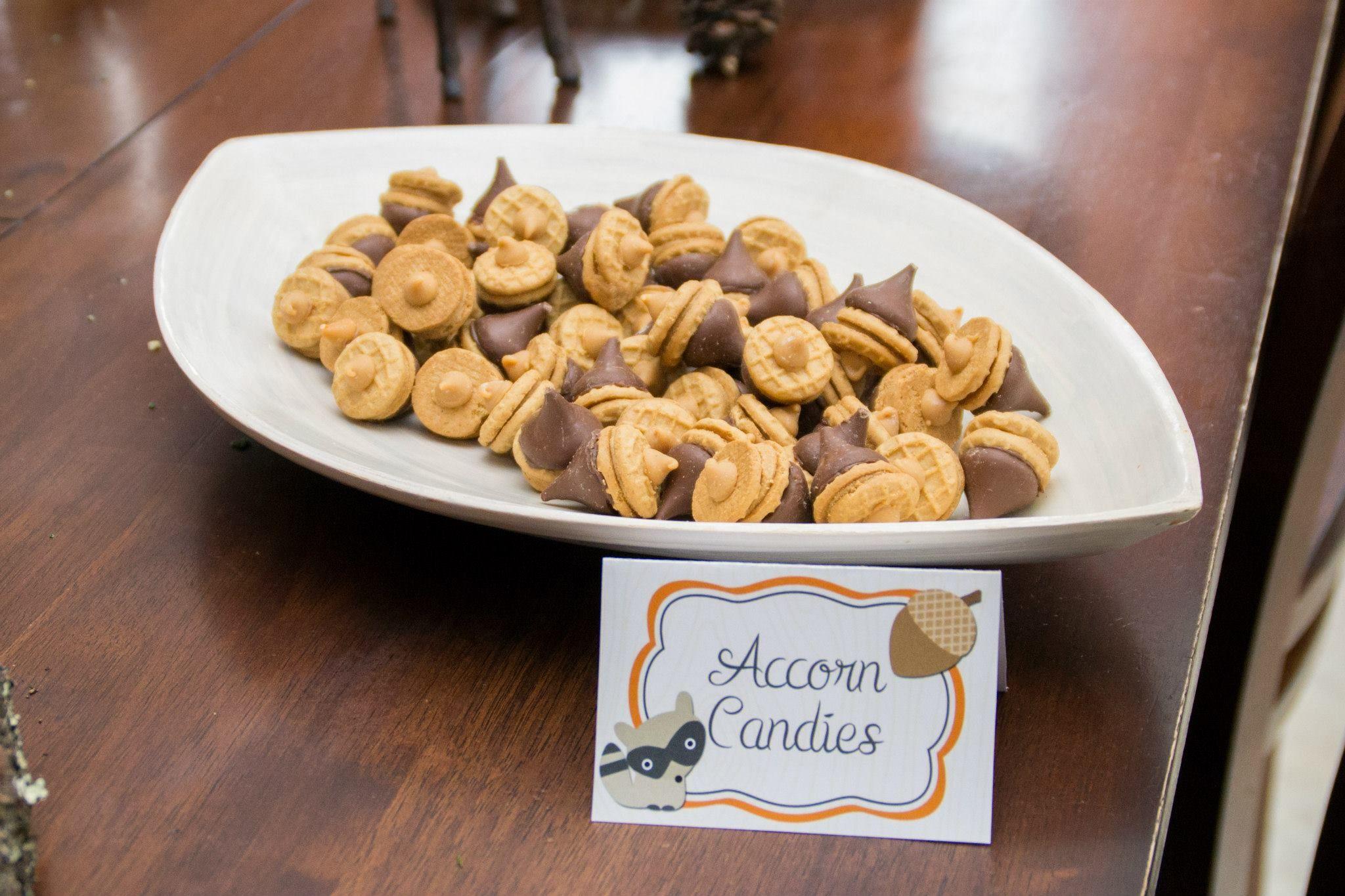 Woodland Baby Shower + Fall Food Ideas A Hershey kiss + a ...