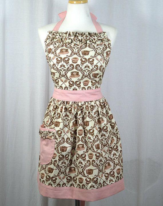 Love this style of Apron | Apron | Pinterest | Nähen