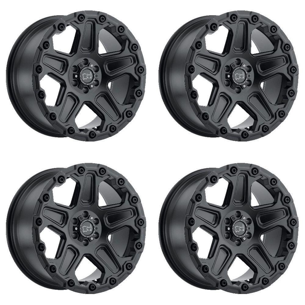 Set 4 17 black rhino cog black wheels 17x9 5 6x135 12mm ford f150 lincoln 6 lug blackrhino