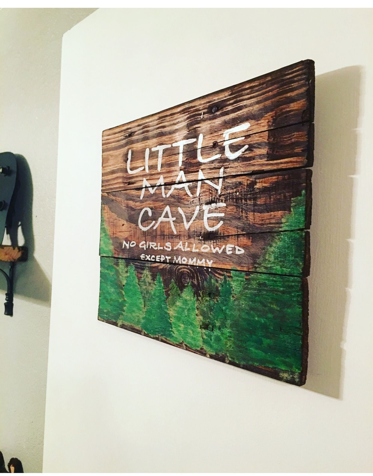 Lumberjack nursery door sign nursery pinterest - Baby jungenzimmer ...