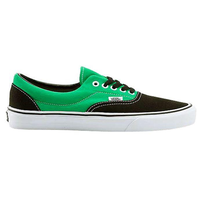 vans noir et vert