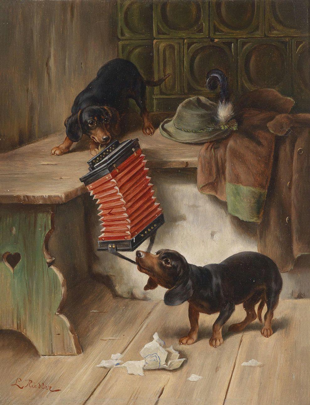 amazoncom painting animal dachshund dog fox reichert