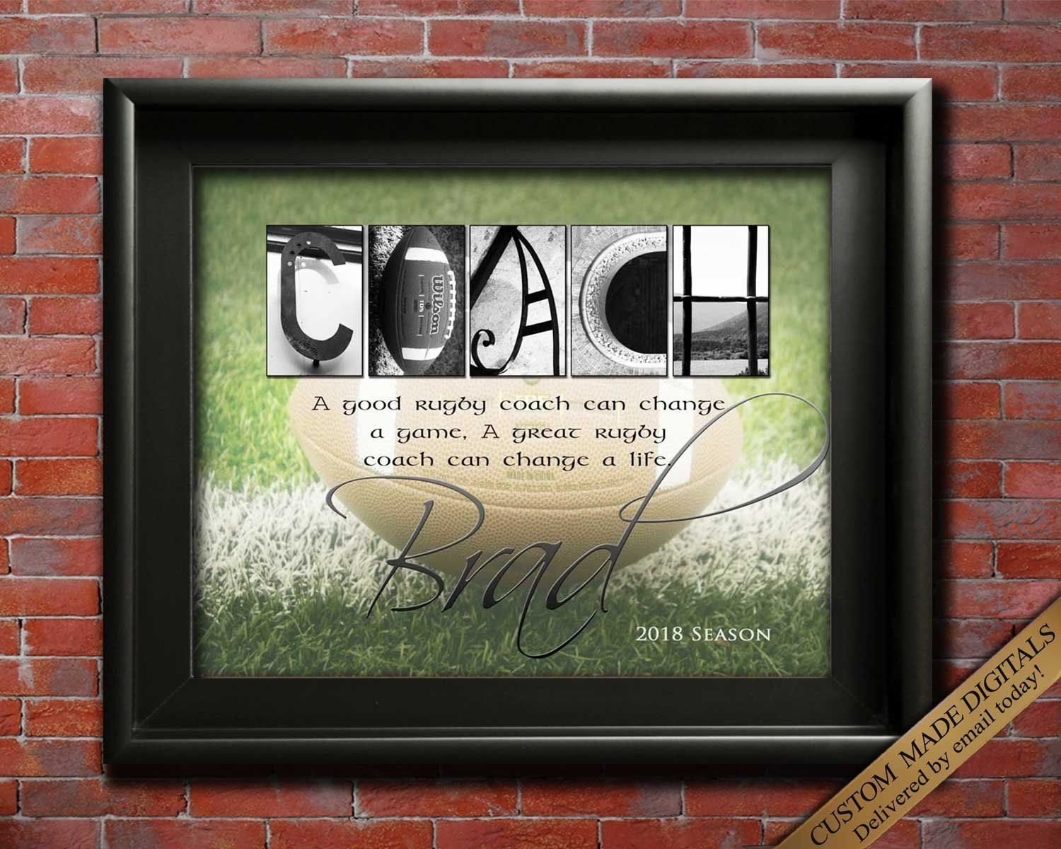 Rugby Gift Gift For Rugby Coach Gift Rugby Gift Ideas Rugby Coaches Sports Coach Rugby Team Rugby Party Coach Appreciation Printable Coach Gifts Rugby Coaching Coach Appreciation Gifts