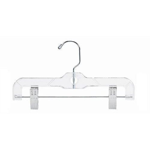 Skirts Hangers 14 inch Pack of 25 Clear Plastic Skirt Hangers with Clips Pant..