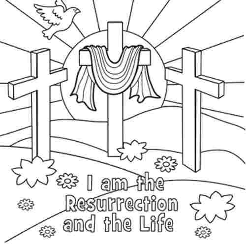 Easter religious coloring page free printable christian easter coloring pages for kids 14851
