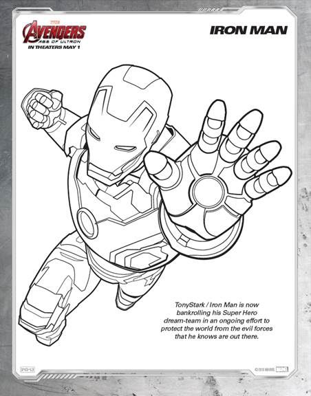 marvels avengers age of ultron coloring sheets your kids will love