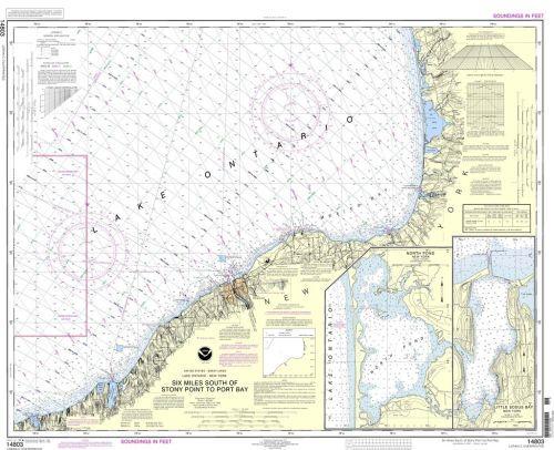 Nautical Chart 14803 (Lake Ontario) Port Bay, Oswego