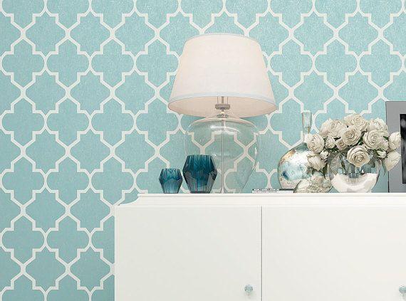 diese marokkanische wand schablone ist eine gro artige l sung f r ihre deko ideen unsere. Black Bedroom Furniture Sets. Home Design Ideas
