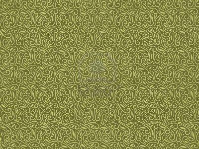 Behang Met Patroon : Vintage behang patroon in het groen art deco art nouveau