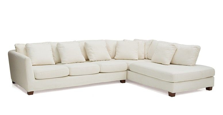 Cheap Sectional Sofas The Pregrado Slipcover Sectional bines goose down feathers and high density foam cushions