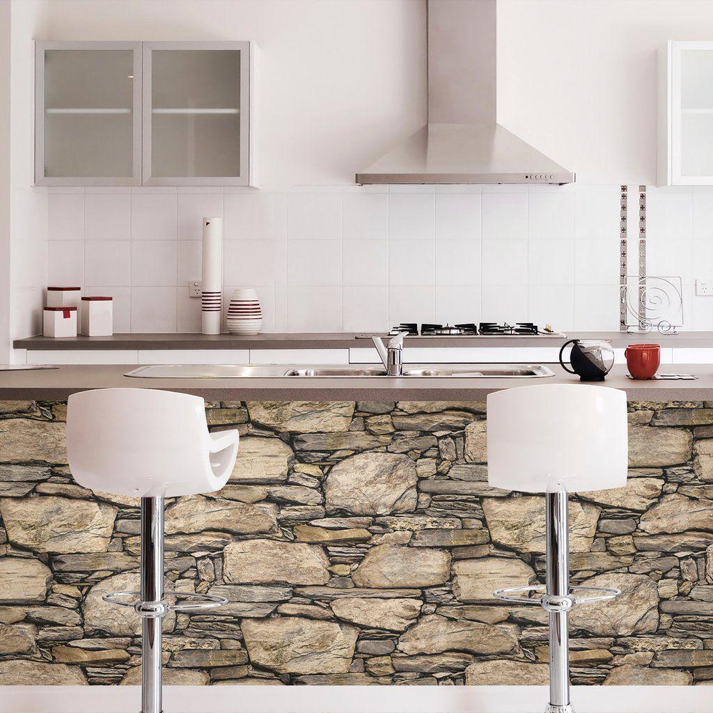 Hadrian 3d Ledger Stone Rock Brick Wall Peel And Stick Wallpaper Peel And Stick Wallpaper Stone Wallpaper House Paint Interior
