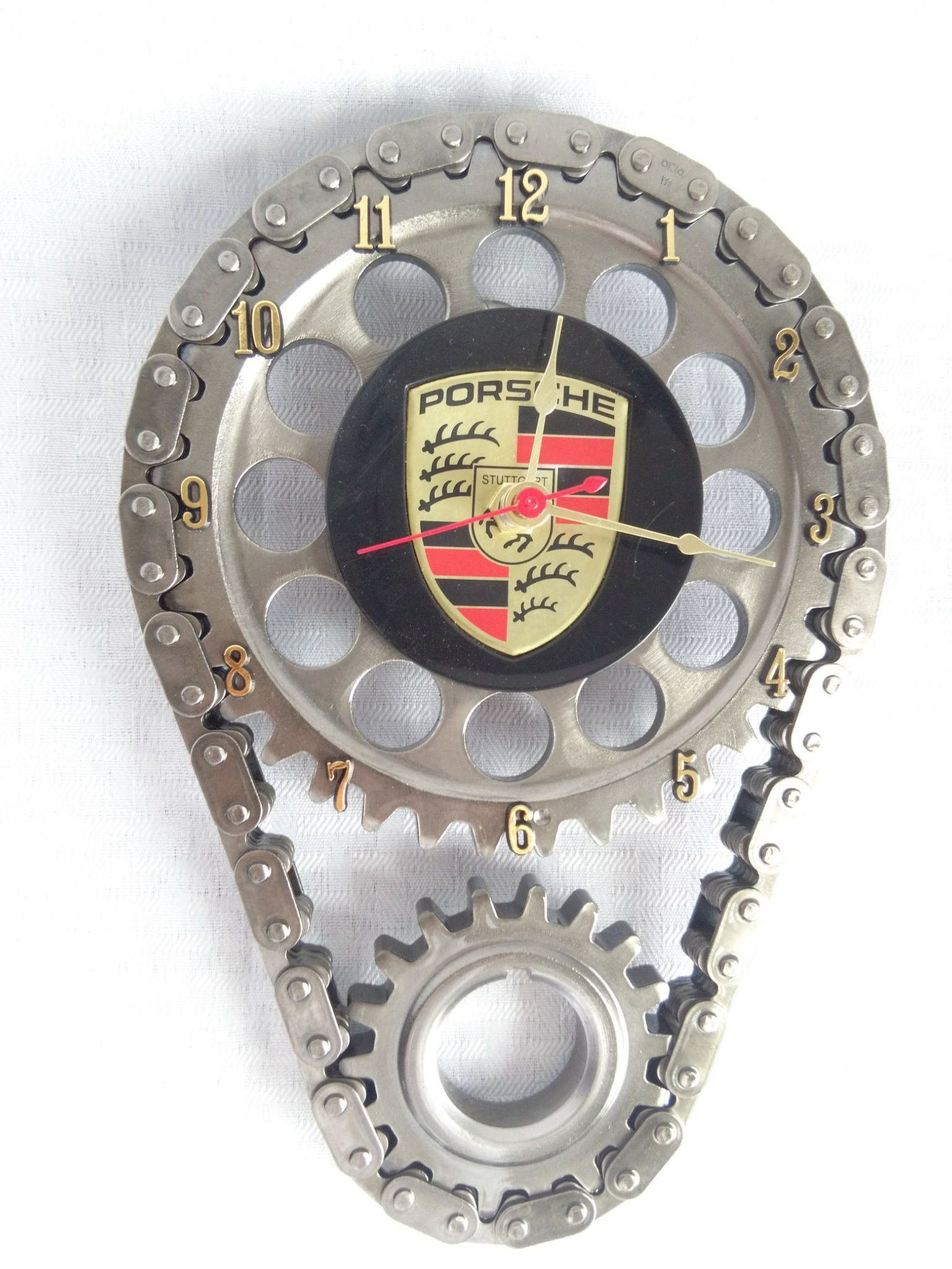 Porsche engine timing gear and chain wall clock wall clocks porsche engine timing gear and chain wall clock amipublicfo Choice Image