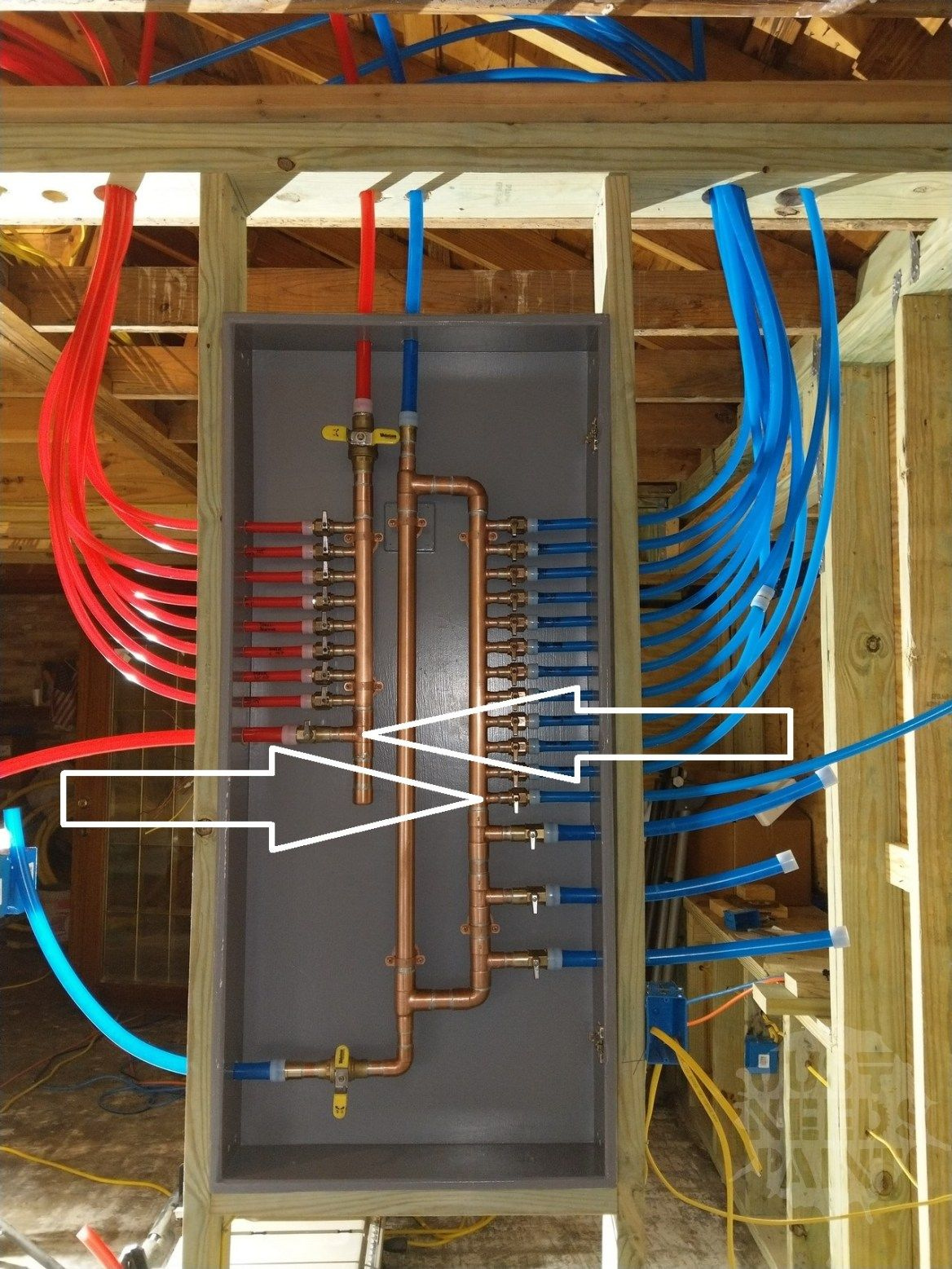 Sanity Saving Pex Manifold Installation Tips Just Needs Paint Pex Plumbing Plumbing Water Plumbing