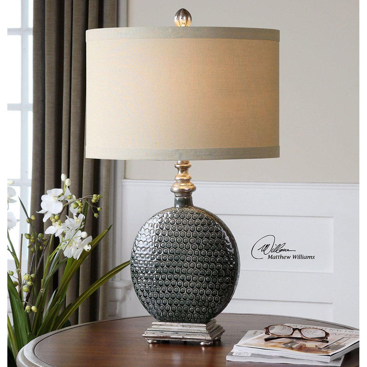 Uttermost Salinger Gray Ceramic Table Lamp 27470-1