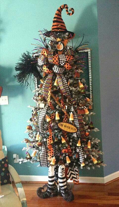 Halloween Tree Halloween Witch Decorations Fun Diy Halloween Decorations Halloween Christmas Tree
