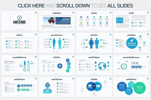 Awesome Powerpoint Template By Slidepro On Creativemarket