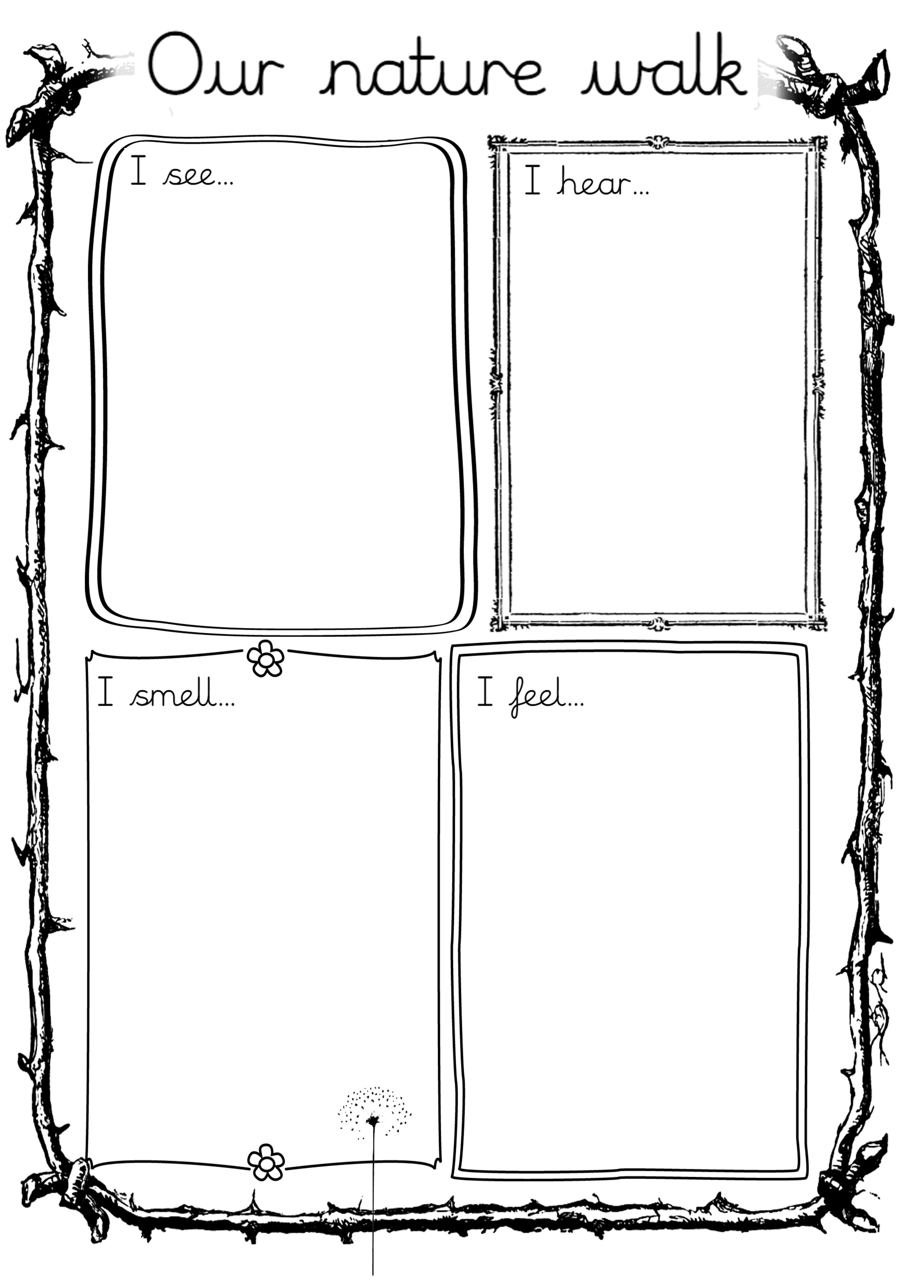nature walk worksheet gardening planting walking in nature nature activities science. Black Bedroom Furniture Sets. Home Design Ideas
