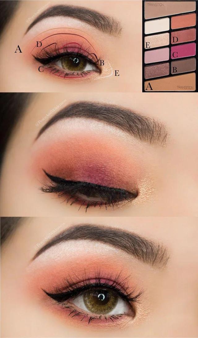 Wet n Wild Rosé in the Air Eyelooks Peach makeup