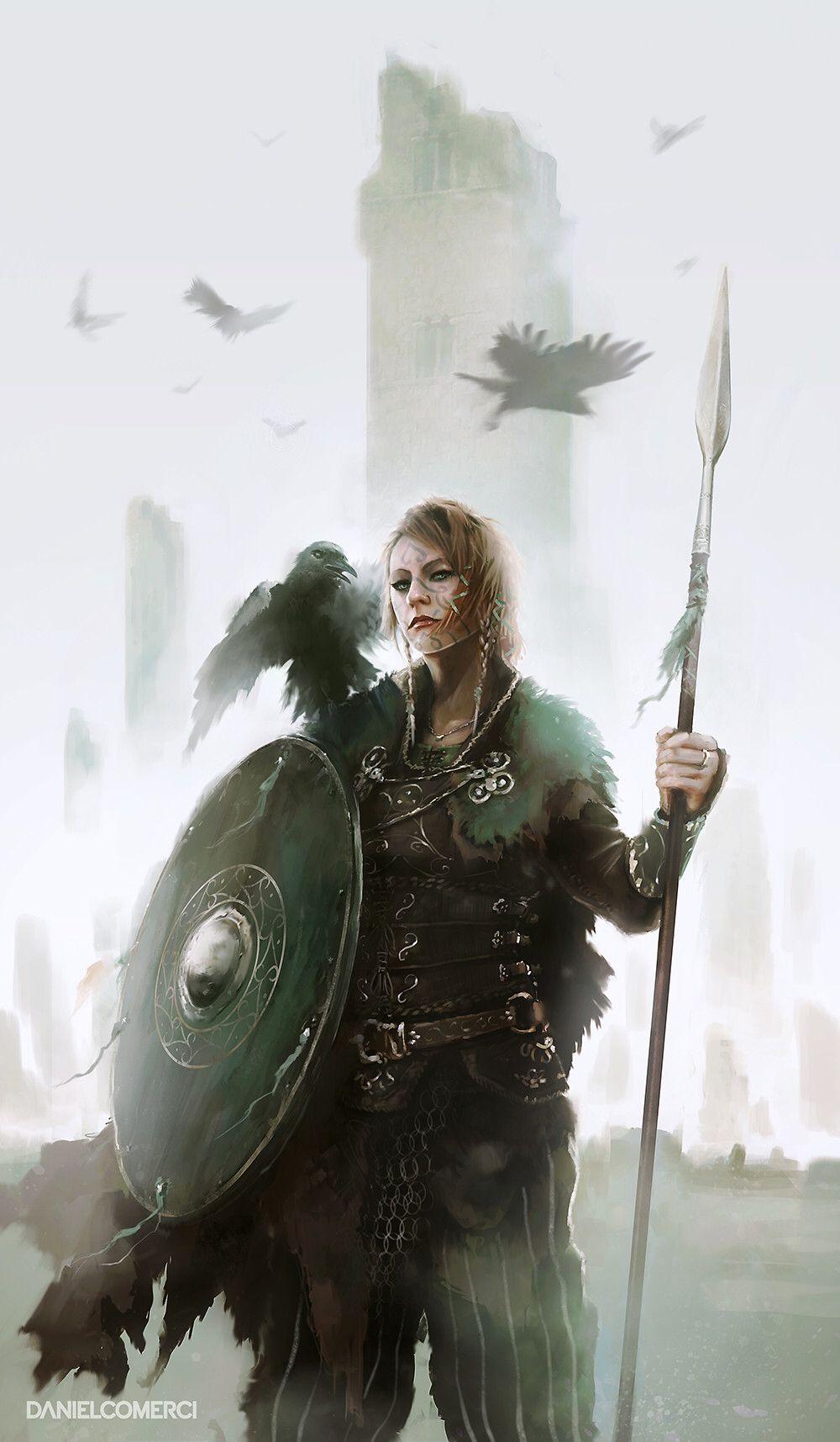 Fantasy Art Shield Maiden