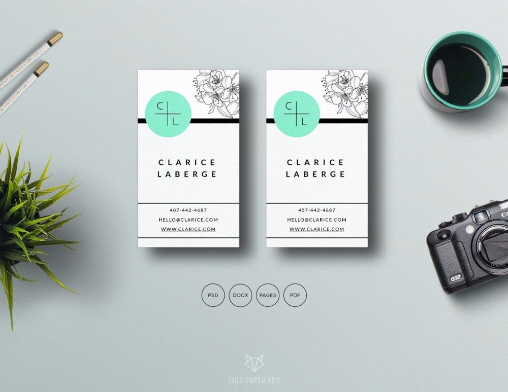 30 Beautiful Floral Business Card Templates PSDWordPDFAi