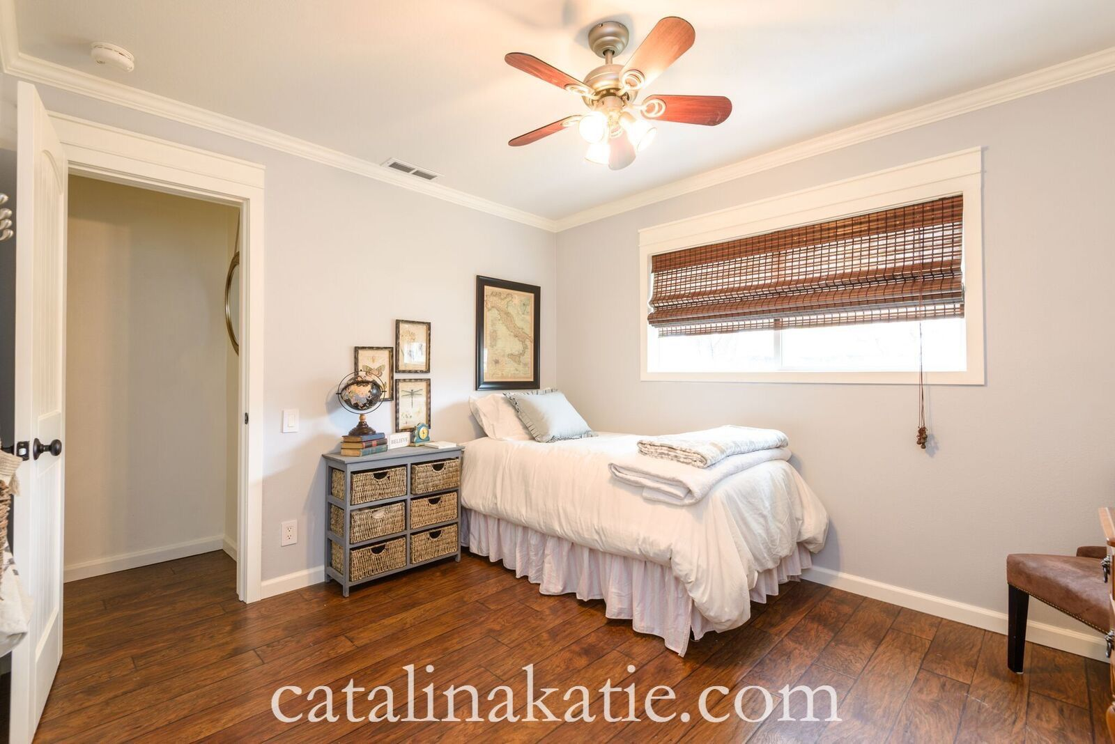 Guest bedroom, Sherwin Williams Olympus White, cottage ...