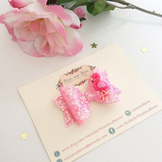 Flamingoes Flower Bow