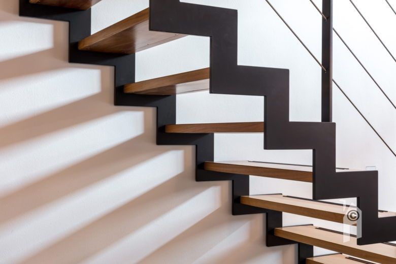 Mooie foto van een moderne trap arcitectuur architectuurfoto