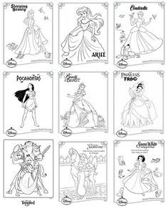 Disney Princess Coloring Pages Free Printable Download Best
