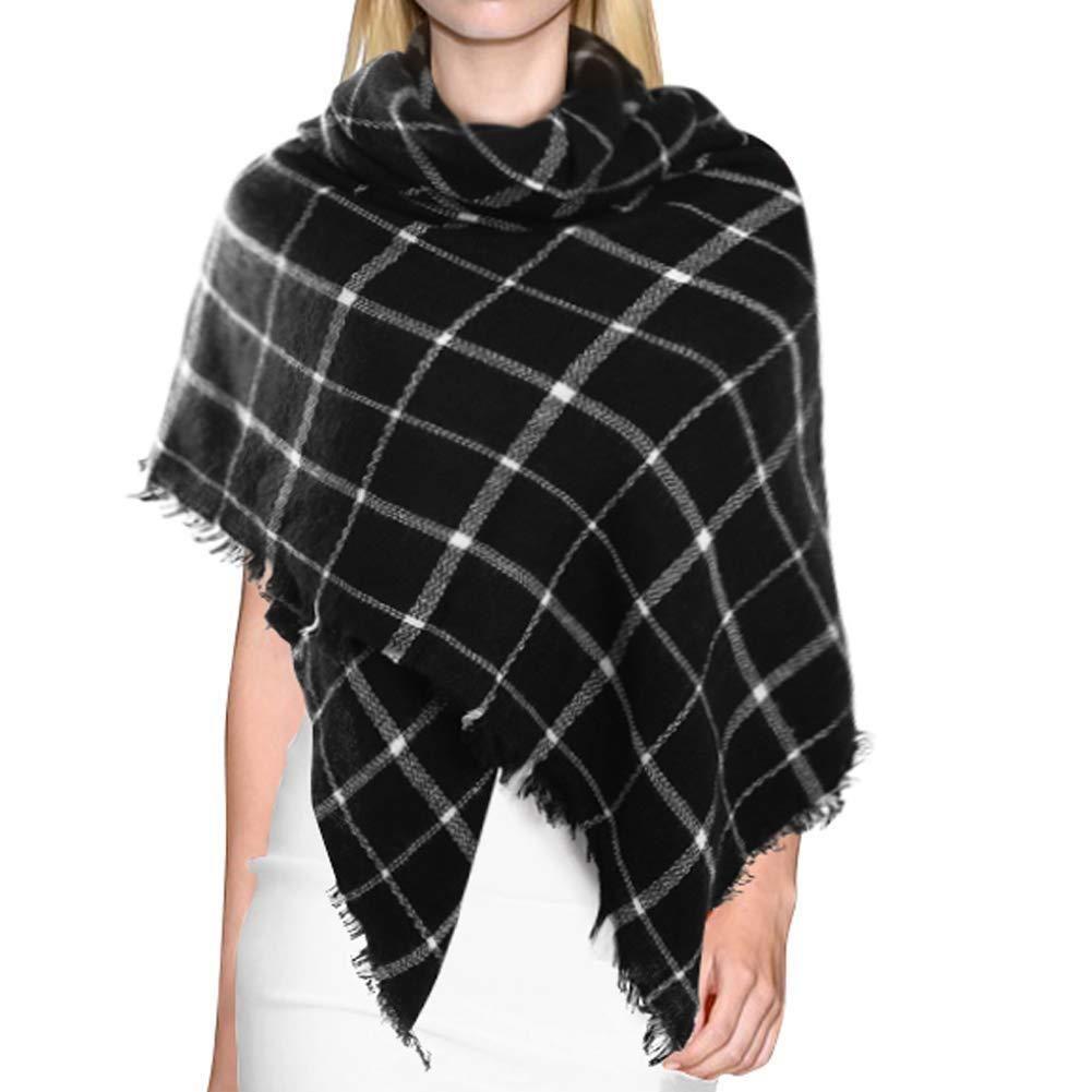 655b4b06f73 Dora Bridal Lady Women Blanket Oversized Tartan Scarf Wrap Shawl ...