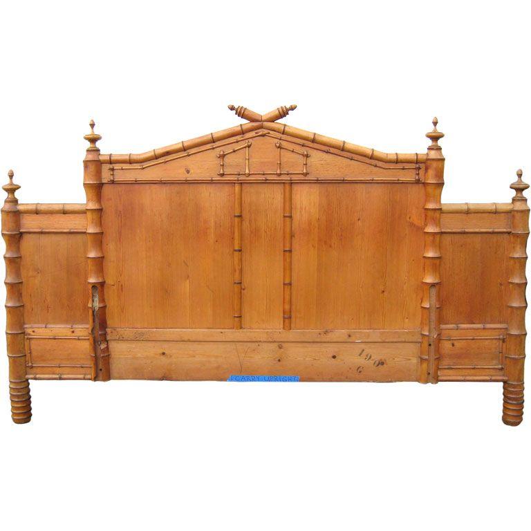 Antique faux bamboo headboard   Bamboo headboard, Faux bamboo and Modern