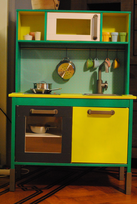 ikea duktig makeover diy duktig pinterest cuisinette cuisini re et salles de jeux. Black Bedroom Furniture Sets. Home Design Ideas