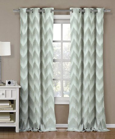 Seafoam Green Maia Ikat Curtain Panel Set Of Two Zulily