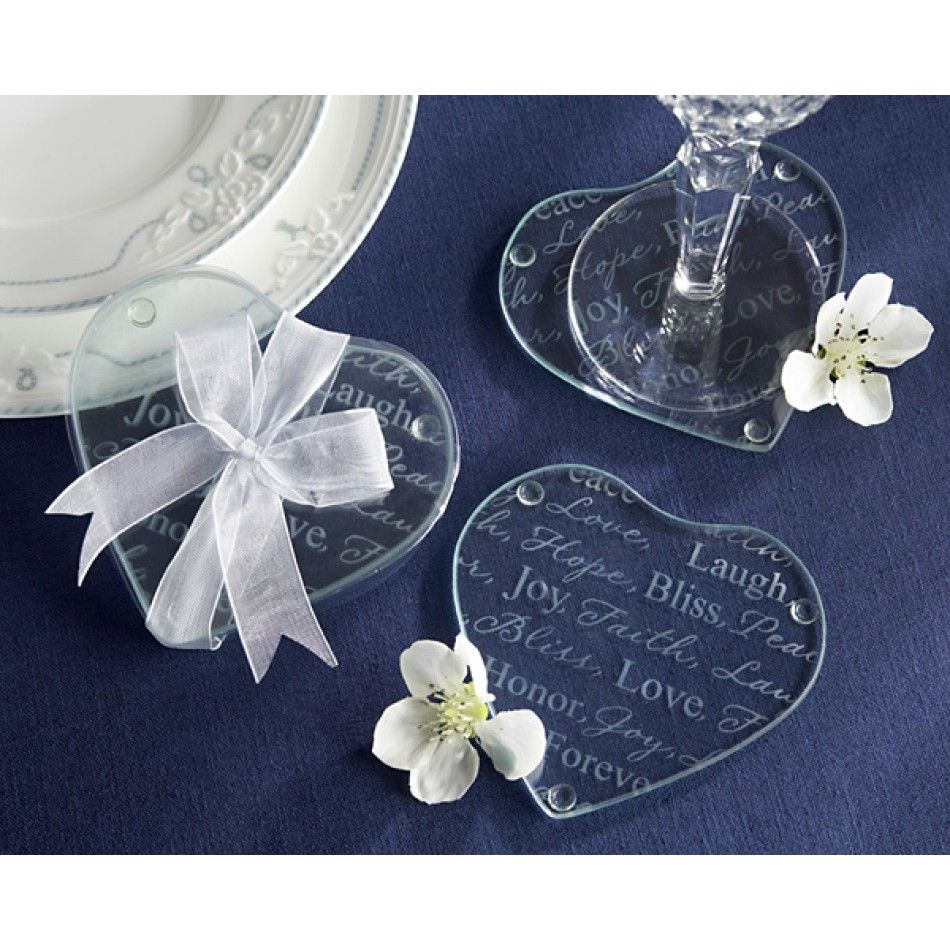 Good wishes heart glass coasters na heart glass coasters