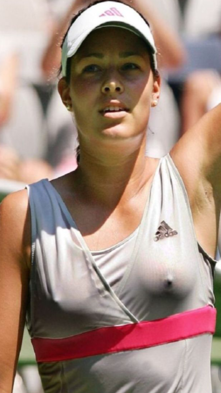 Ana Ivanovic Breasts ana shows her excitement after a straight set win | ana