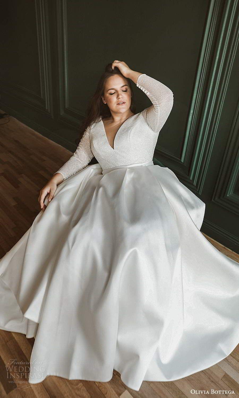 Olivia Bottega 2021 Plus Size Wedding Dresses Wedding Inspirasi Wedding Dress Long Sleeve Top Wedding Dresses Plus Size Wedding Gowns [ 1500 x 900 Pixel ]