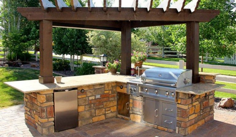 Outdoor Kitchen Designs With Fireplace House Pinterest Outdoor