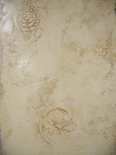 Glazed Venetian Plaster with embedded Stencil | Venetian ...
