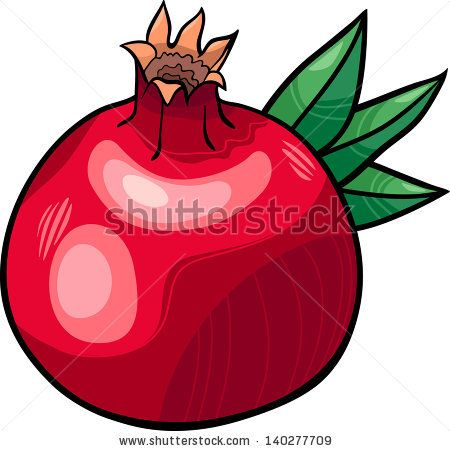 cartoon vector illustration of pomegranate fruit food object rh pinterest com Hand Grenade Grenade Logo Wallpaper