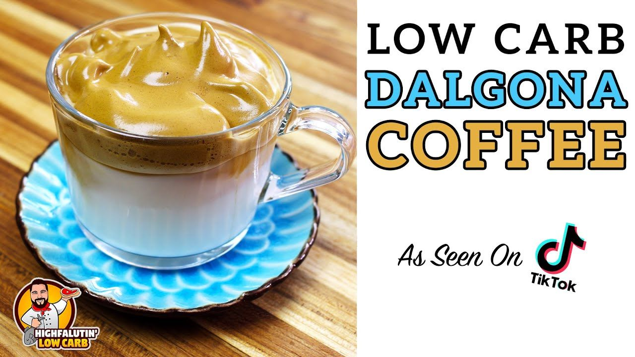 How to make low carb dalgona coffee the best keto tik