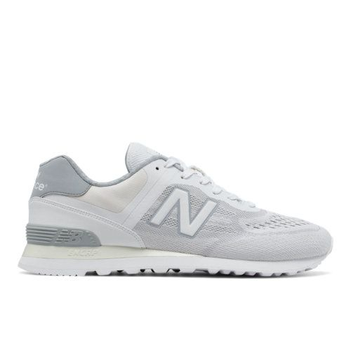 574 Re-Engineered Men's Sport Style Sneakers Shoes - White/Silver (MTL574NA)
