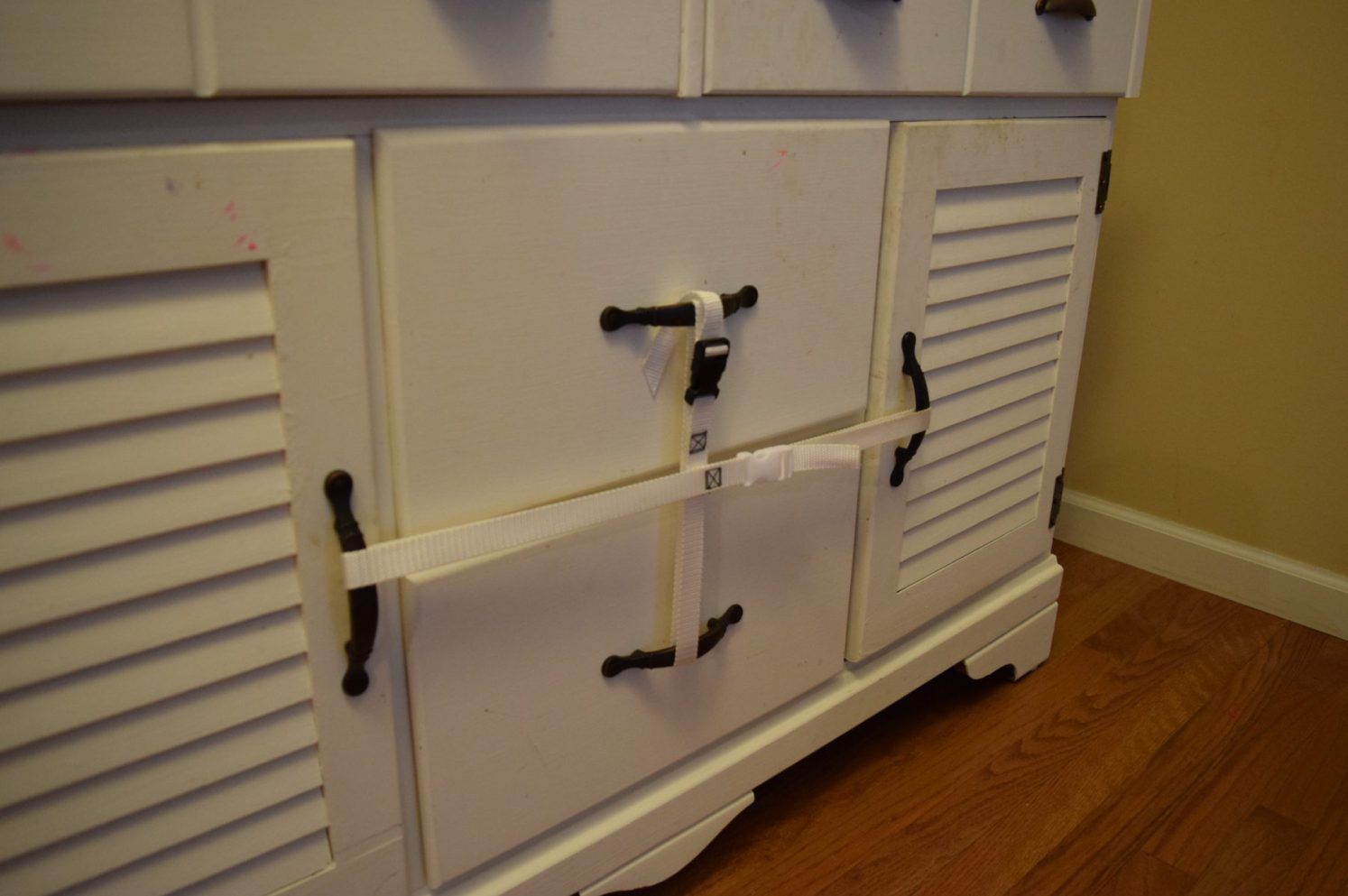 7 Baby Proofing Tricks Every Mom Needs To Know Baby Proofing Kitchen Drawers Baby Proofing Doors Baby Proofing