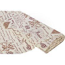 Tissu de décoration 'ange nostalgique', bordeaux
