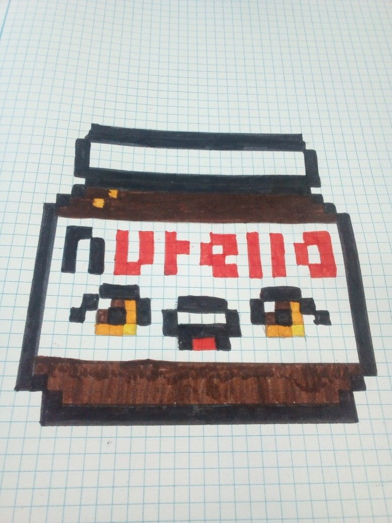 Pixel Art Facile Kawaii Nutella