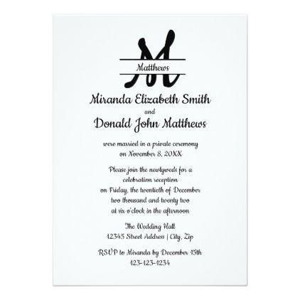 Formal Simple Elegant Cookie- Wedding Announcement Elegant cookies - formal invitation style