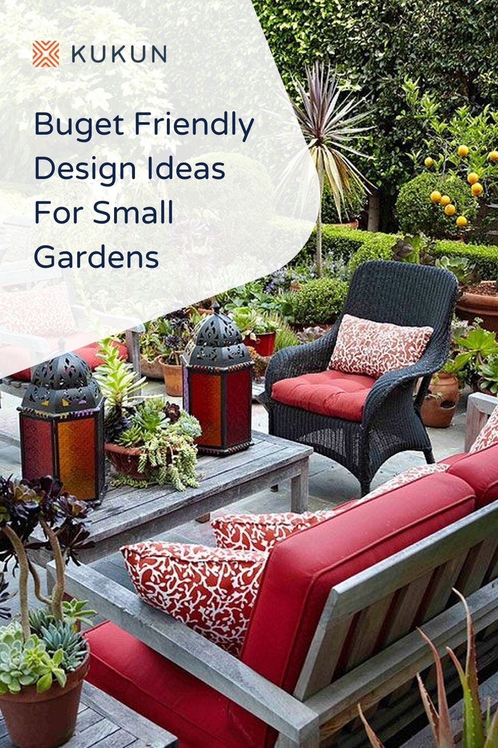 Very Small Garden Design Ideas You Can Do On A Budget Kukun In 2020 Outdoor Cushions Patio Furniture Patio Design Patio Table Decor